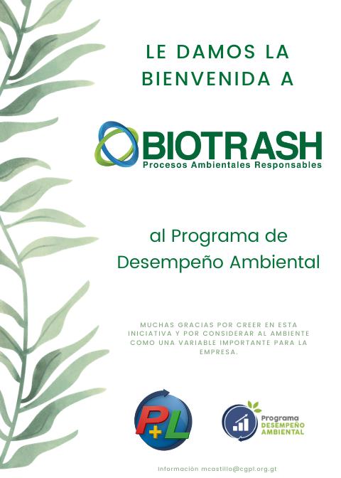 Primera Empresa En Afiliarse Al Programa De Desempeño Ambiental