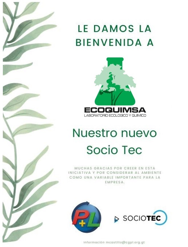 Le Damos La Bienvenida A Nuestro Nuevo Socio Tec, Ecoquimsa