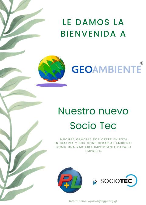 Le Damos La Bienvenida A Nuestro Nuevo Socio Tec, GeoAmbiente