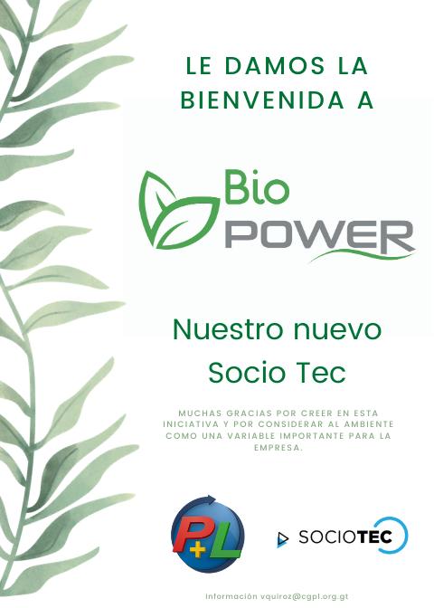 Le Damos La Bienvenida A Nuestro Nuevo Socio Tec, BioPower
