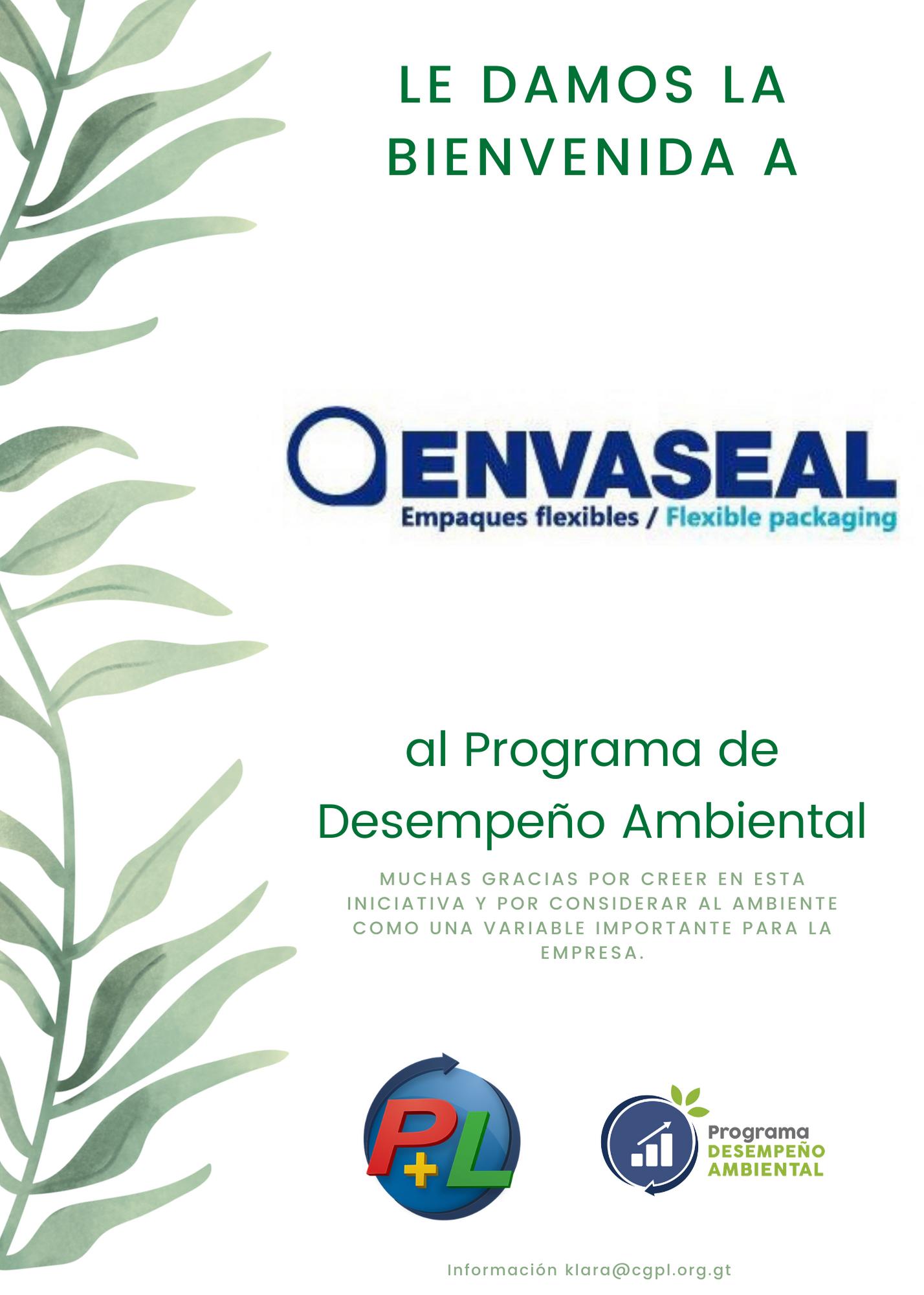 Le Damos La Bienvenida A Envaseal Al Programa De Desempeño Ambiental