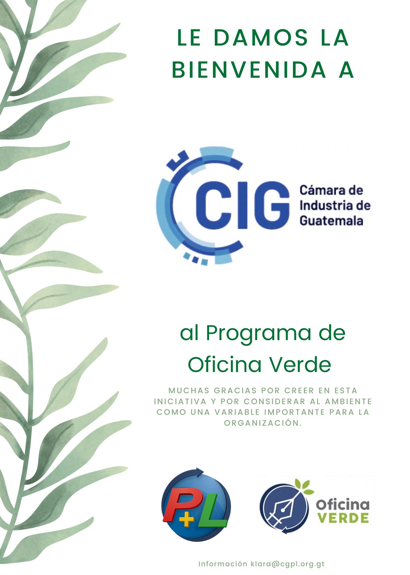 Le Damos La Bienvenida A Cámara De Industria A Nuestro Programa De Oficina Verde